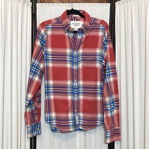 Men's Sz M Abercrombie & Fitch Muscle plaid shirt